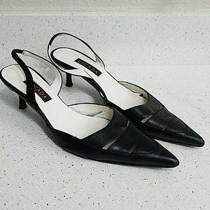 ESCADA low kitten heel slingbacks pointy toe shoes